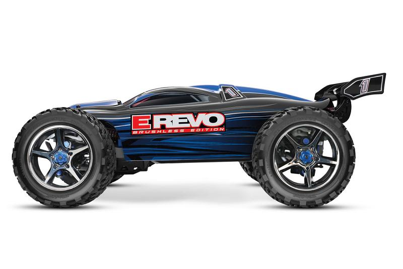 TRAXXAS	E-Revo Brushless MXL 4WD 1/10 RTR с системой стабилизации (with telemetry) + Fast Charger